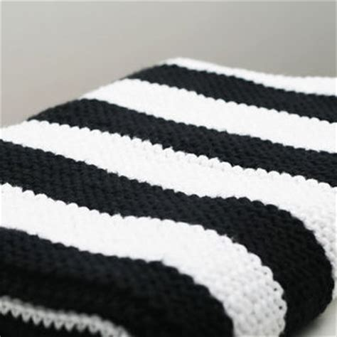 black and white baby blanket knitting pattern modern black and white striped cotton from foxandrebel on etsy