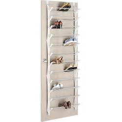 whitmor 36 pair the door resin shoe rack white