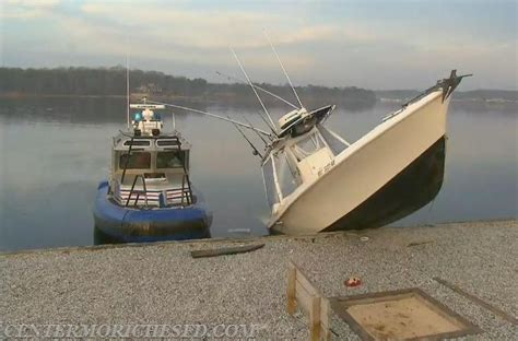 boat bulkhead fishing boat crashes into moriches bulkhead center