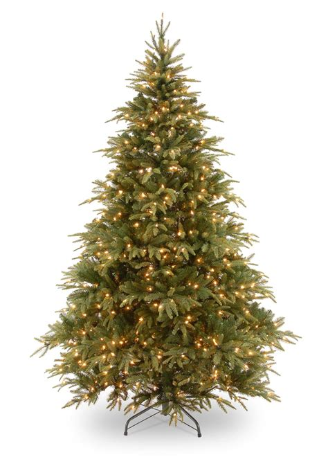 8ft pre lit weeping spruce feel real artificial christmas