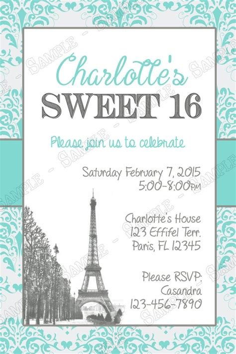 sweet 17 invitation card template novel concept designs chic s sweet 16