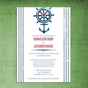 nautical wedding invitations nautical theme wedding invitations rehearsal dinner