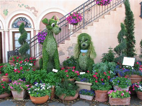 Disney Flower And Garden Festival Top 5 Disney World Character Couples In Topiary At The Epcot Flower Garden Festival Disney
