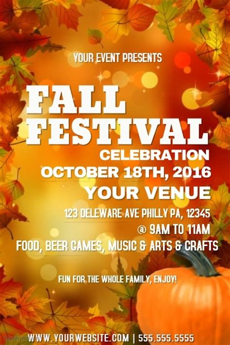 fall festival template postermywall