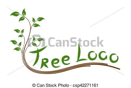 Logo Green Tree Logo Green Sapling Tree With Leaves Green Tree Logos Vector Graphic 01 Vector Logo Free