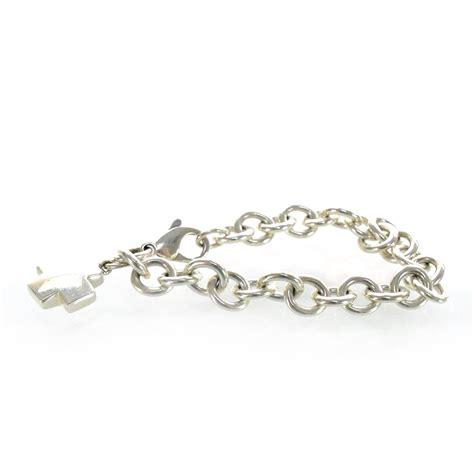 co sterling silver cross charm bracelet 28520