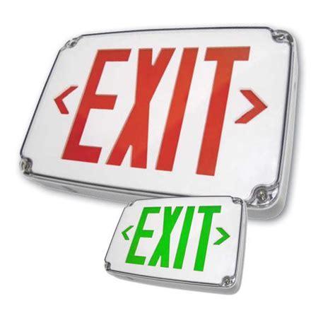 wet location emergency exit light wlezxteu wet location compact led exit sign emergency