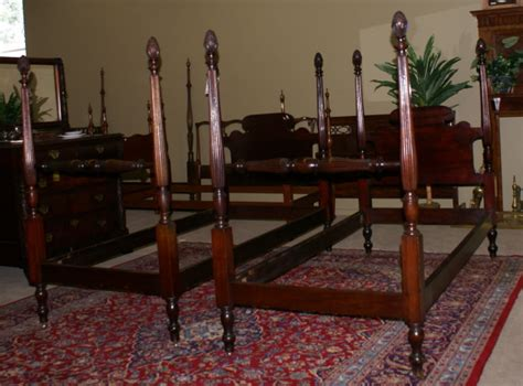 antique twin beds for sale very nice matched pair of pineapple posts solid mahogany