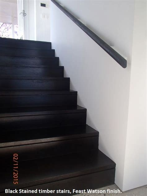 black stained timber stairs feast watson finish floor