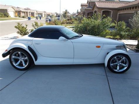 automobile air conditioning repair 2001 chrysler prowler electronic throttle control sell used custom 2001 plymouth prowler artic white roadster convertible hardtop in fresno