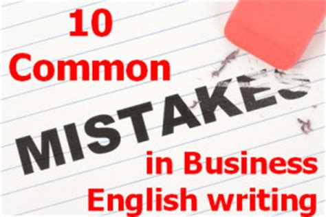 Common Business Letter Writing Mistakes business common writing mistakes