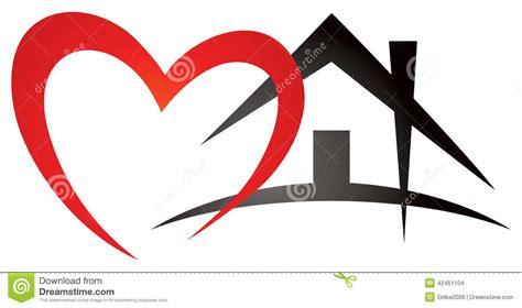heart house heart house logo stock vector image 42451104