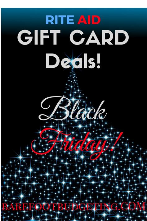 Black Friday Gift Cards Deals - rite aid black friday gift card deals barefoot budgeting