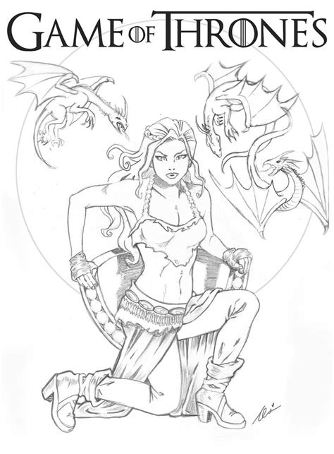 thrones colouring book nz daenerys targaryen wip by ochie4 on deviantart