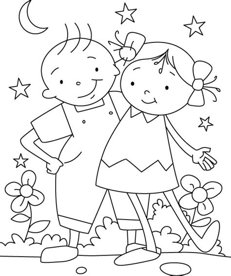 Friendship Day Coloring Pages Holiday Coloring Pages Friends Coloring Page