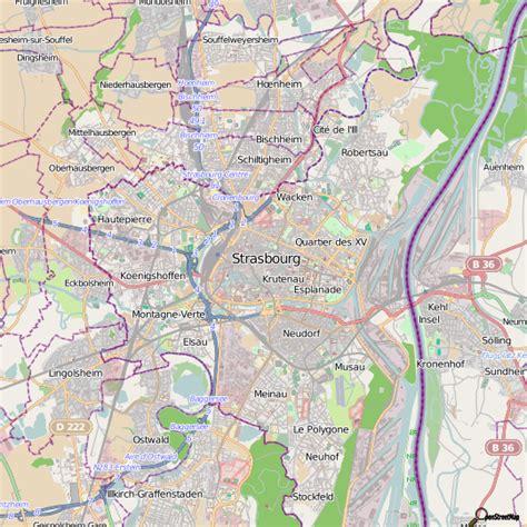 Strasbourg Plan by Info Carte De La Ville De Strasbourg Voyages Cartes