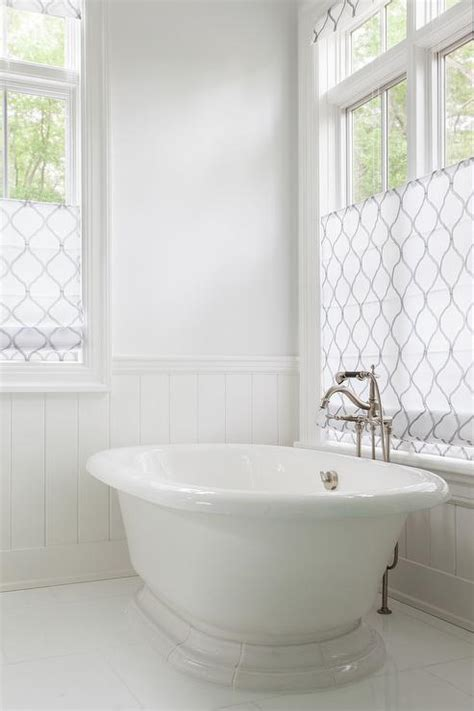 shades for bathroom arabesque window treatments transitional bathroom