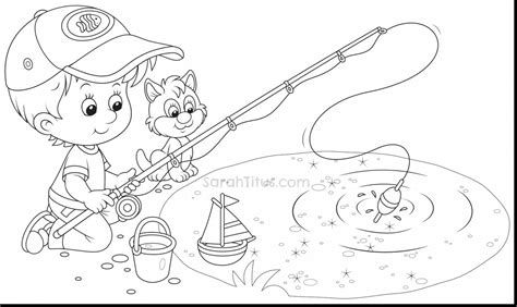 fish habitat coloring pages kids fishing beach coloring pages coloringsuite com