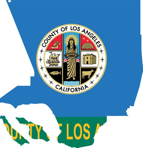 County Of Los Angeles Search File Flag Map Of Los Angeles County California Png