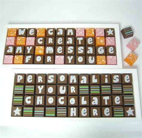personalised chocolates in large box by chocolate by cocoapod chocolate notonthehighstreet com