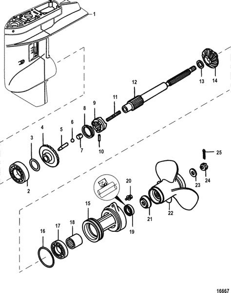 Mercury Marine 25 HP EFI (3 Cylinder) (4-Stroke) Gear