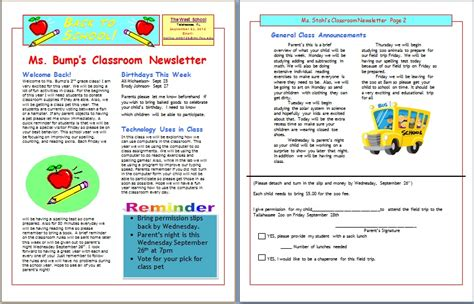 Free Editable Newsletter Templates For Teachers Hunecompany Com Printable Newsletter Templates For Teachers