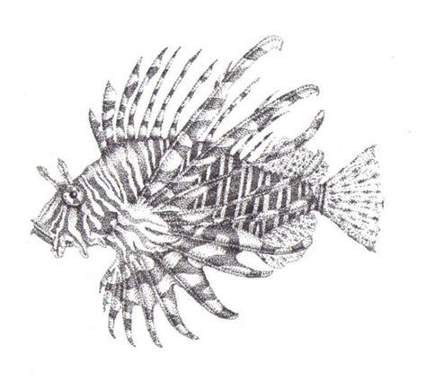 stippled lion fish by lawlfox on deviantart