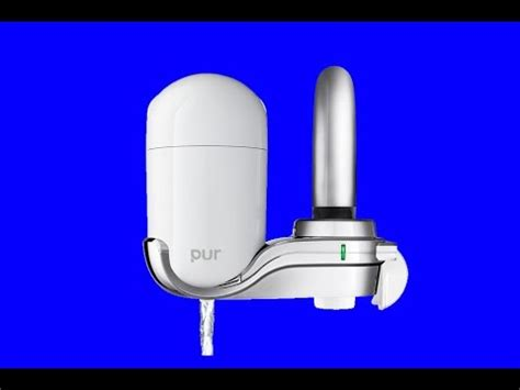how to install new pur faucet water filters plumbing