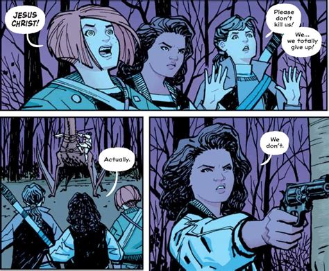 paper girls volume 4 page 45 comic graphic novel reviews april 2016 week one page 45 comics graphic novels