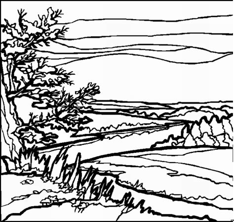 coloring book pages landscapes free coloring pages of landscapes