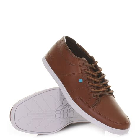 mens boxfresh sparko 4 bitter chocolate leather lace up