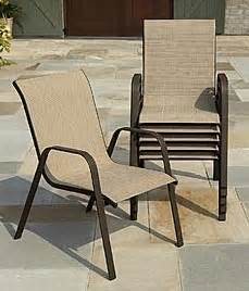 Stackable Chairs Walmart Sling Stack Patio Chairs Just 13 50 Each At Kmart And