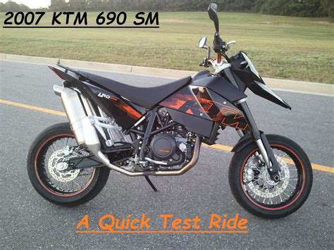 Ktm Supermoto 690 Ktm 690 Sm Test Ride