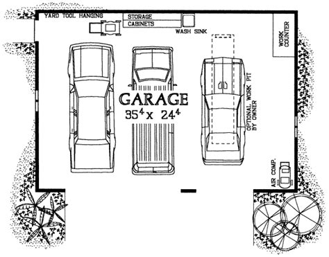 garage floor plans free traditional style house plan 0 beds 0 baths 900 sq ft