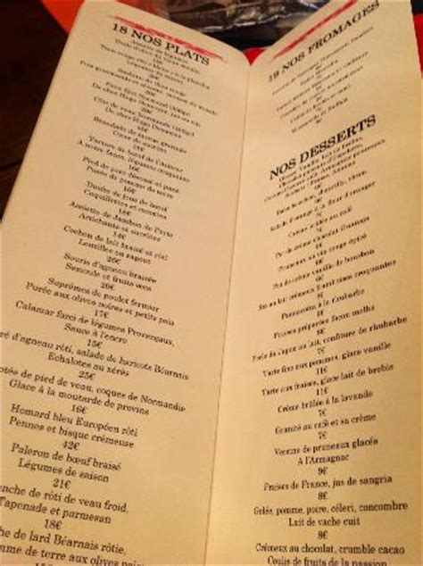 the walk in menu picture of le comptoir du relais