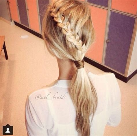 hairstyles braids ponytails braids hawaii braided pony tail short hairstyle 2013
