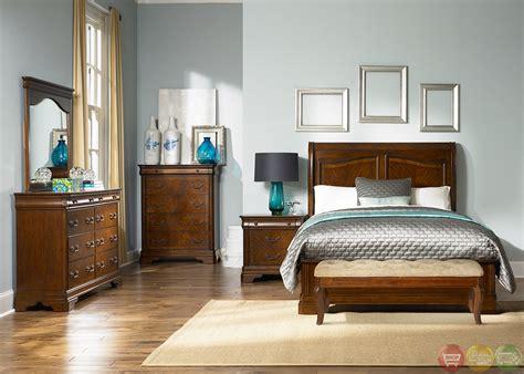 alexandria bedroom set alexandria traditional autumn brown sleigh bedroom set