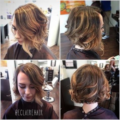 car mal highlight on wavy bob hair cut bob frisuren