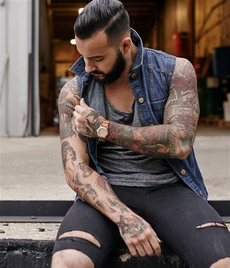 man arm tattoos striking sleeve ideas for to accentuate the arms