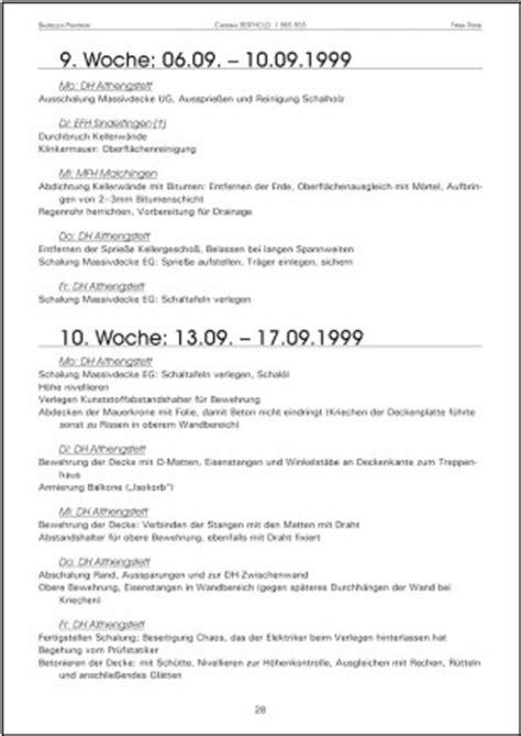 Tabellarischer Bericht Vorlage Studiengang Immobilientechnik Und Immobilienwirtschaft Vorpraktikum Im Bachelor Studiengang