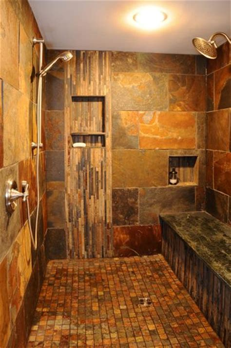 Master Bath Floor Plans No Tub Custom Walk In Tile Shower Casa Del Sol Naciente Pinterest