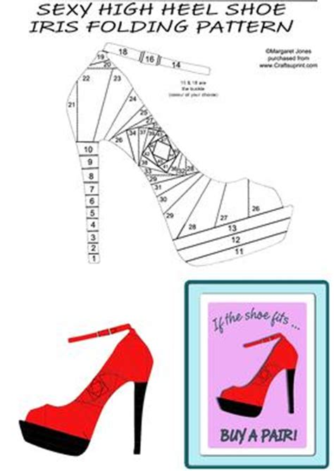 high heel shoe template craft high heel shoe iris folding pattern cup407189 601