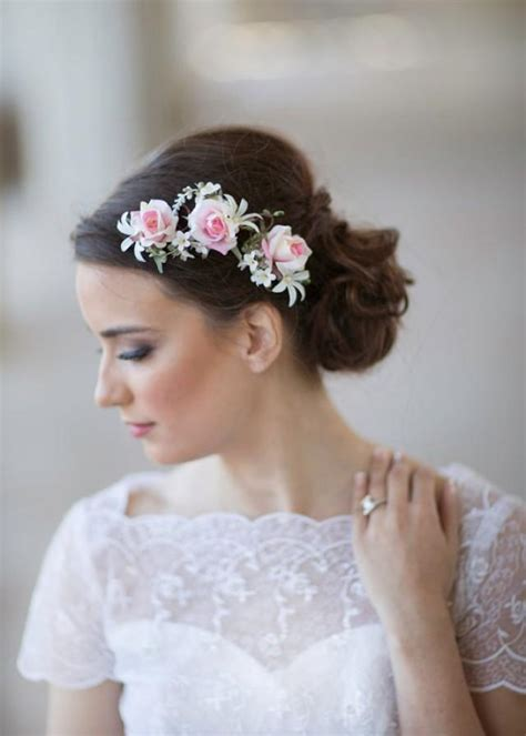 Wedding Hair With Roses by Pink Wedding Flower Bridal Hair Accessories 2228563