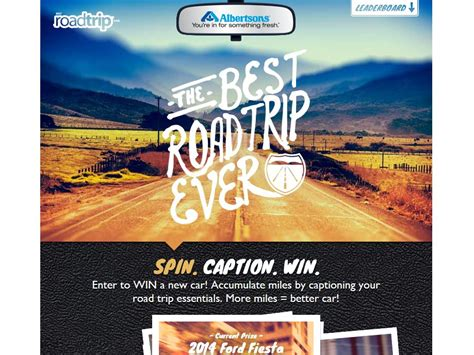 Albertsons Sweepstakes - albertsons best road trip ever sweepstakes