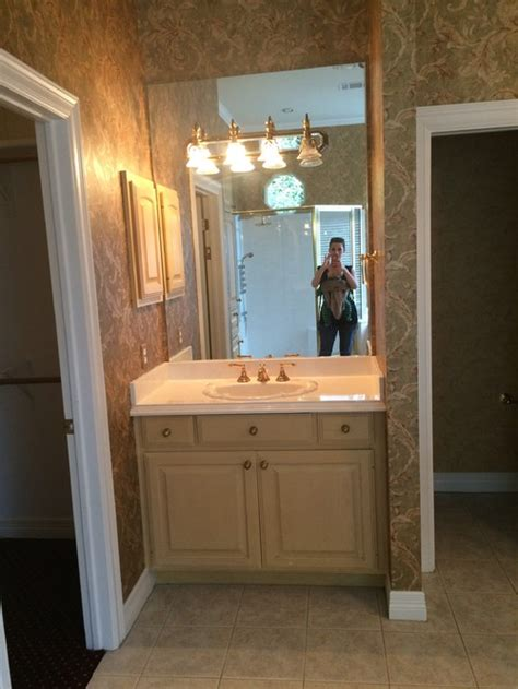 Vanity Mirror And Light Placement Separate Units Bathroom Lighting Placement