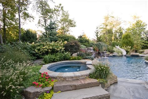 natural backyard pool backyard swimming pools waterfalls natural landscaping nj