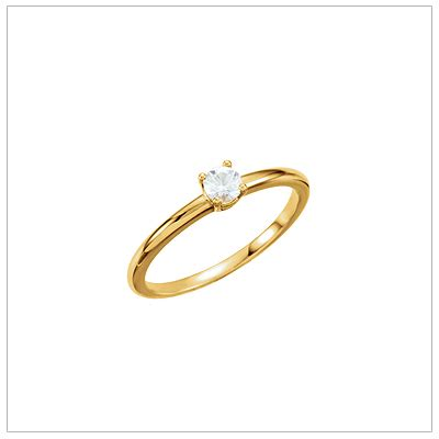 Chil Kid Gold 14kt gold solitaire ring for children s rings