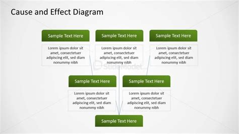 Root Cause And Effect Diagram Design For Powerpoint Cause And Effect Tree Diagram
