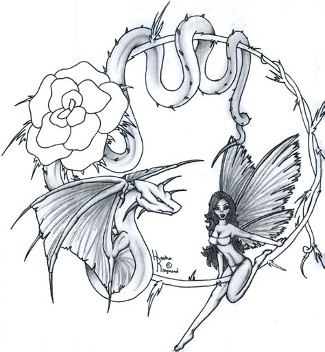 dragon fairy tattoo designs fairies images designs
