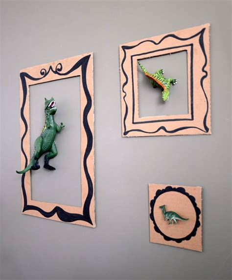 Handmade Cardboard Photo Frames - diy dinosaur frames for handmade